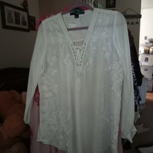 New Cream Color Blouse, XL